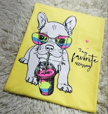 T-Shirt Dog Shake WGR 24 - Amarelo