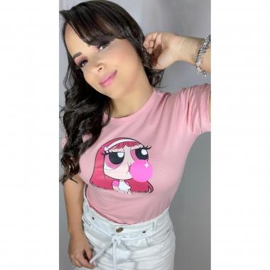 T-Shirt Florzinha WGR 18 - Rosa