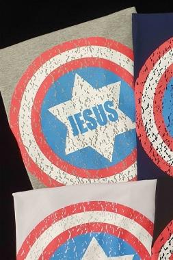 T-shirt Jesus Capitão GBB 292 - CINZA