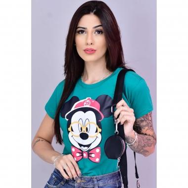 T-Shirt Mickey Óculos WGR 36 - Verde