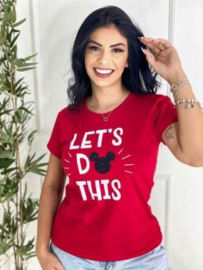 T-Shirt PLUS Lets Do WGR 09 - Vermelho