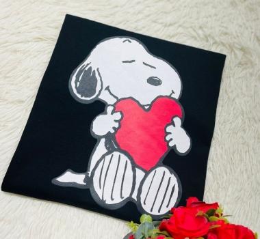 T-Shirt PLUS Snoopy WGR 06 - Preto