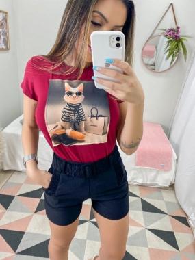 T-Shirt Premium Gato Chan FVT 05