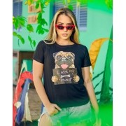 T-Shirt Pug Preto GBB 188