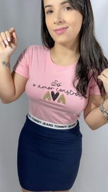 T-Shirt Só o Amor WGR 03 - Rosa