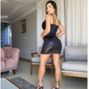 Vestido Cirrê Bojo com Renda DMY 302