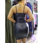 Vestido Cirrê e Renda DMY 196
