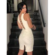 Vestido Jacquard Texturizado Mbl 59