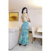 Vestido Longo Creponado Coc 70
