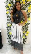 Vestido Longo Tricô Lurex Ajm 29