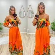 Vestido Magiore Longo JAN 183 laranja