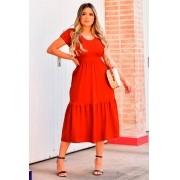 Vestido Manguinha Braga MLL 338
