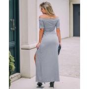Vestido Ombro a Ombro Fendas MLL 307