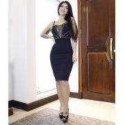 Vestido Pedrarias com Tule MBL 6566