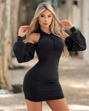 Vestido Suplex com Capuz DMY 356