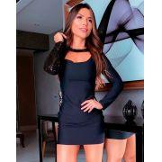 Vestido Transverso Paetê DMY 264