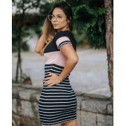 Vestido Tricô Barra Ondulada JNF 126