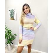 Vestido Tricô Gola Colors JNF 263