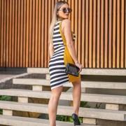 Vestido Tricô Listras Melbourne JNF 255