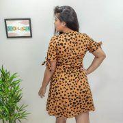 Vestido Vintage Coração PLT 87 Caramelo