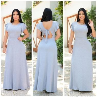 Vestido Viscolycra Atenas RDV 106 - Cinza