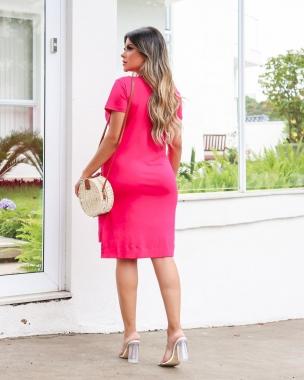 Vestido Viscolycra Mullet MLL 364 - Pink