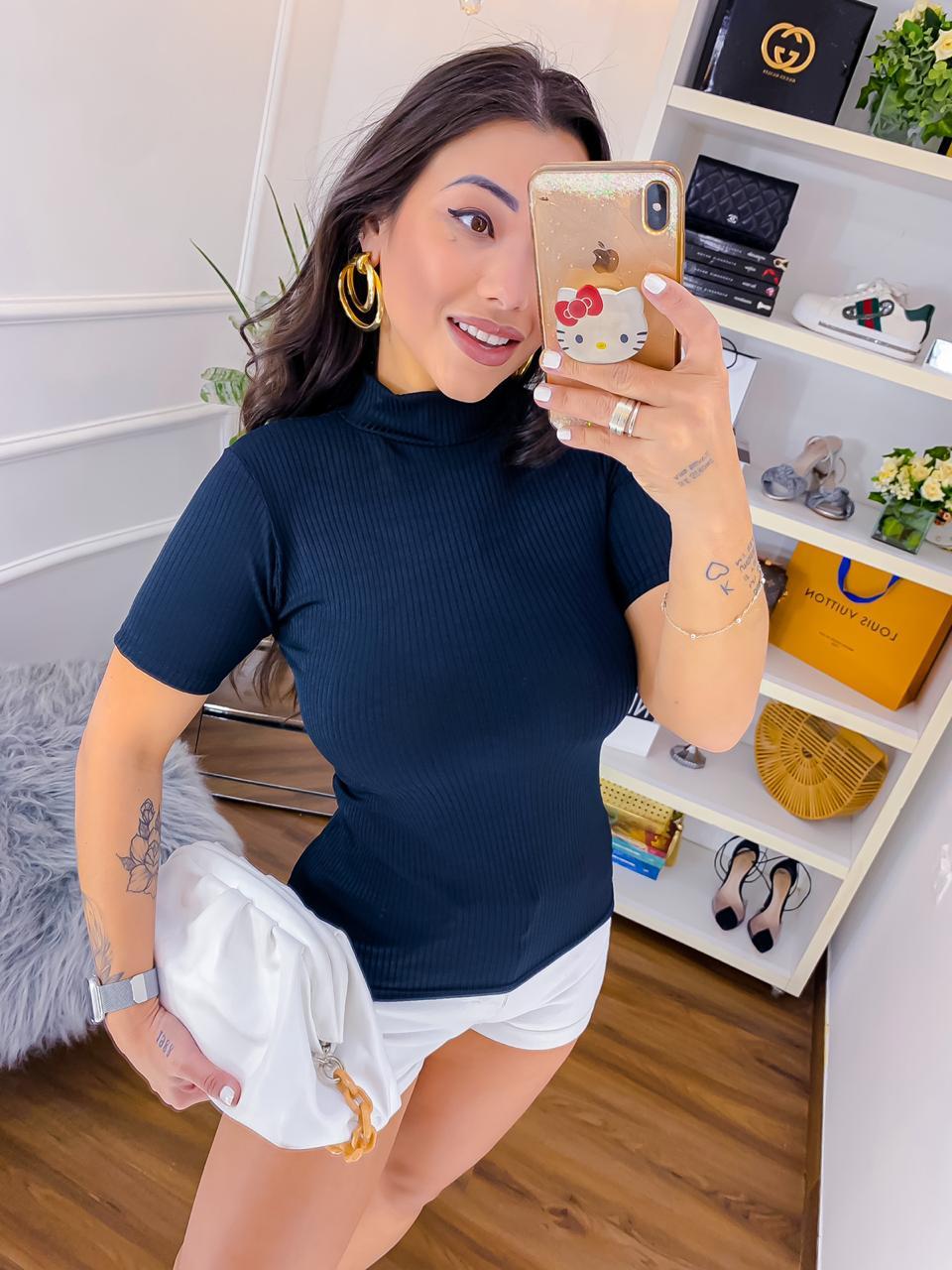 Blusa Canelada Lisa BWI 03