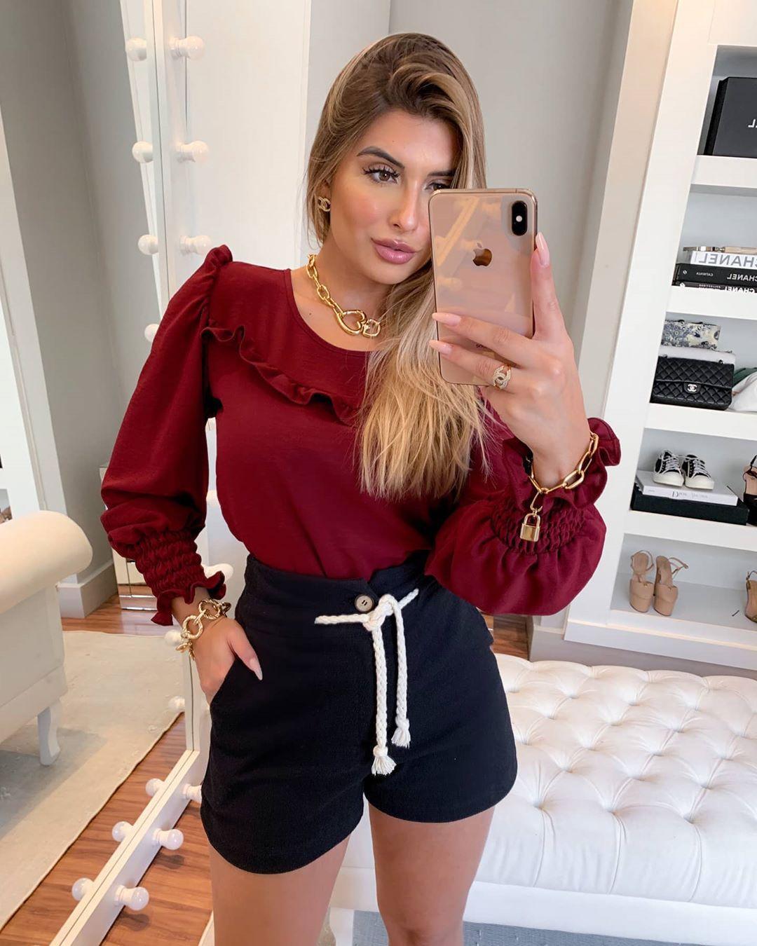 Blusa Crepe Lisa LAF 2233