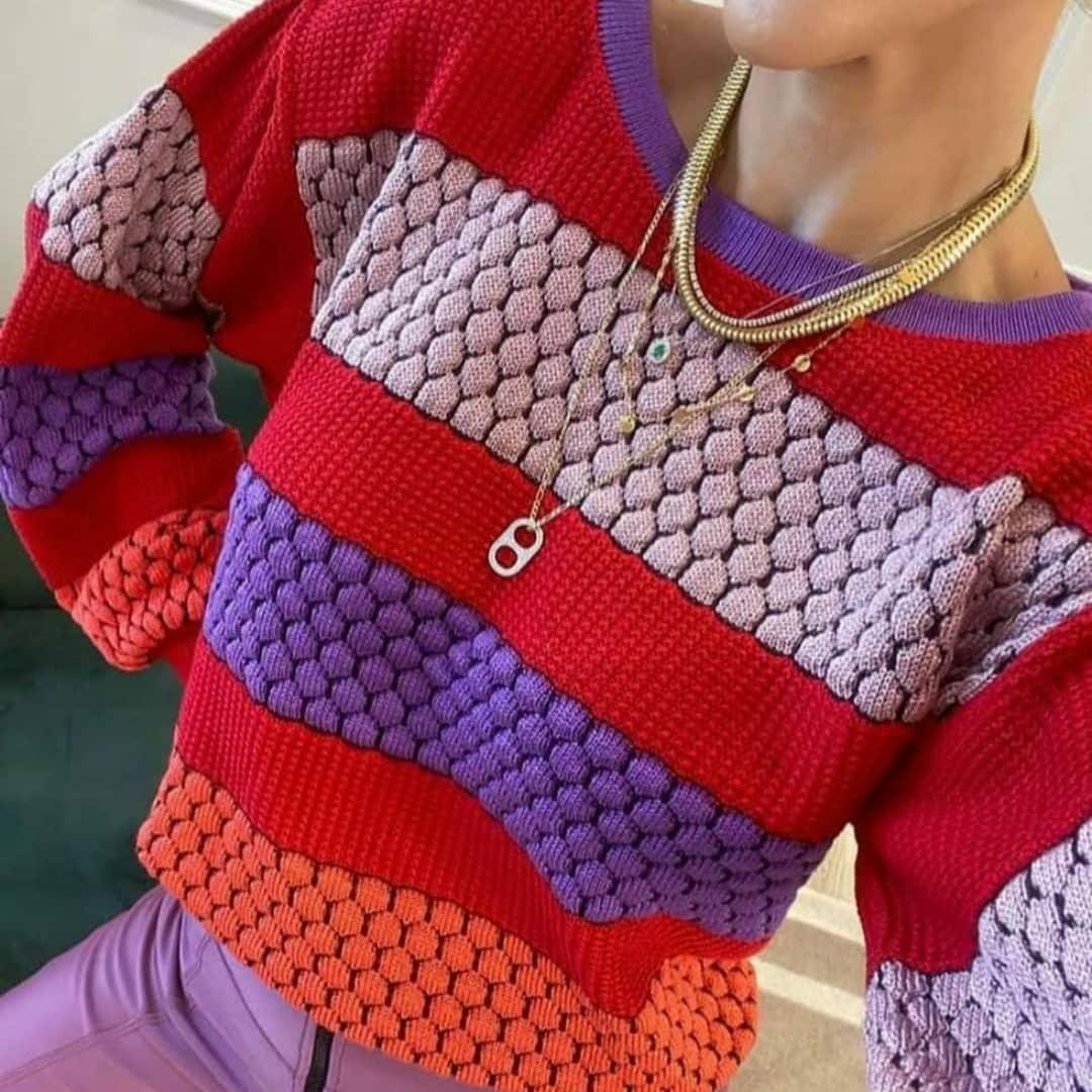 Blusa Tricô Colméias POT 04