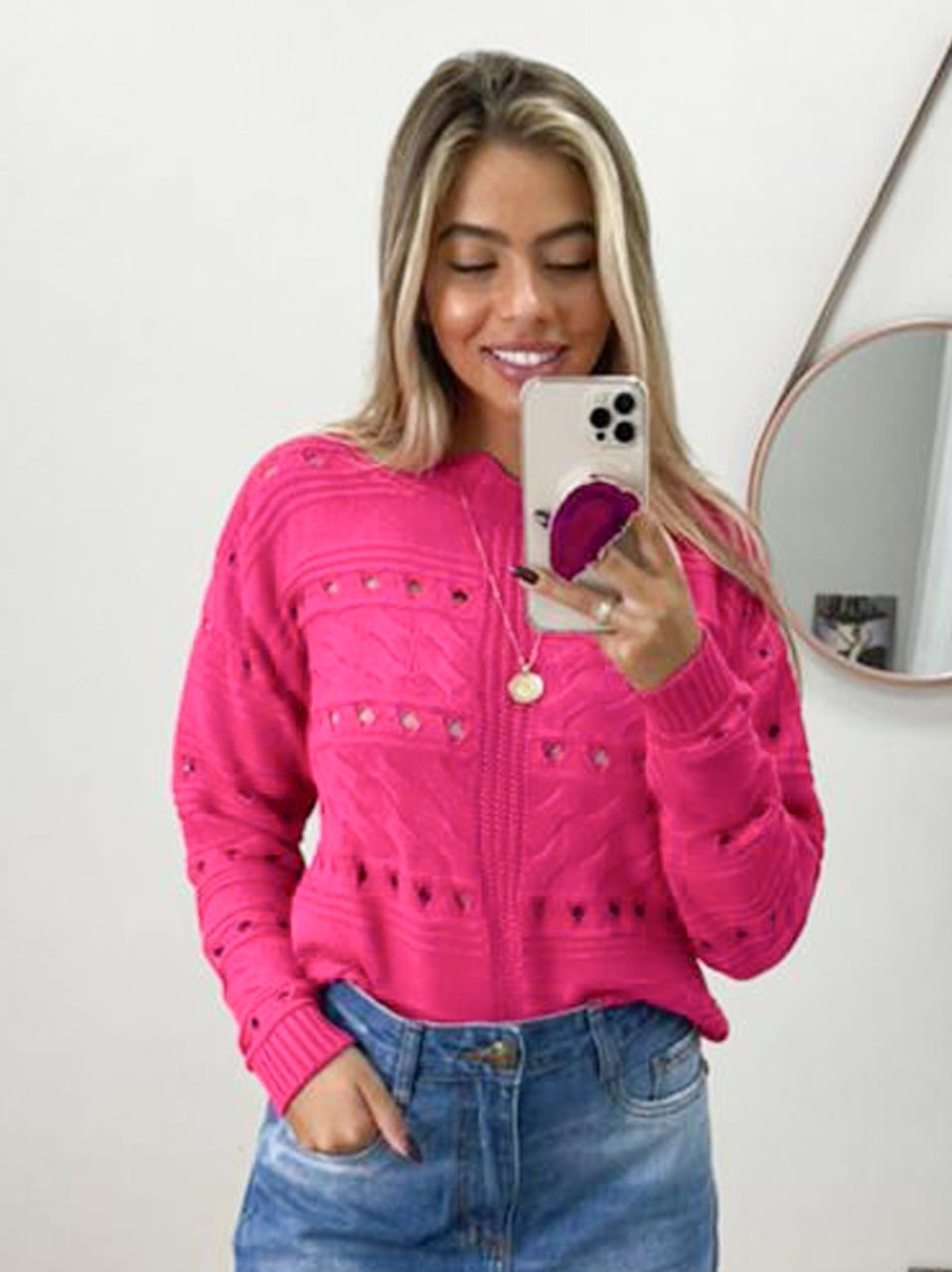 Blusa Tricot Fleming POT 56 Pink