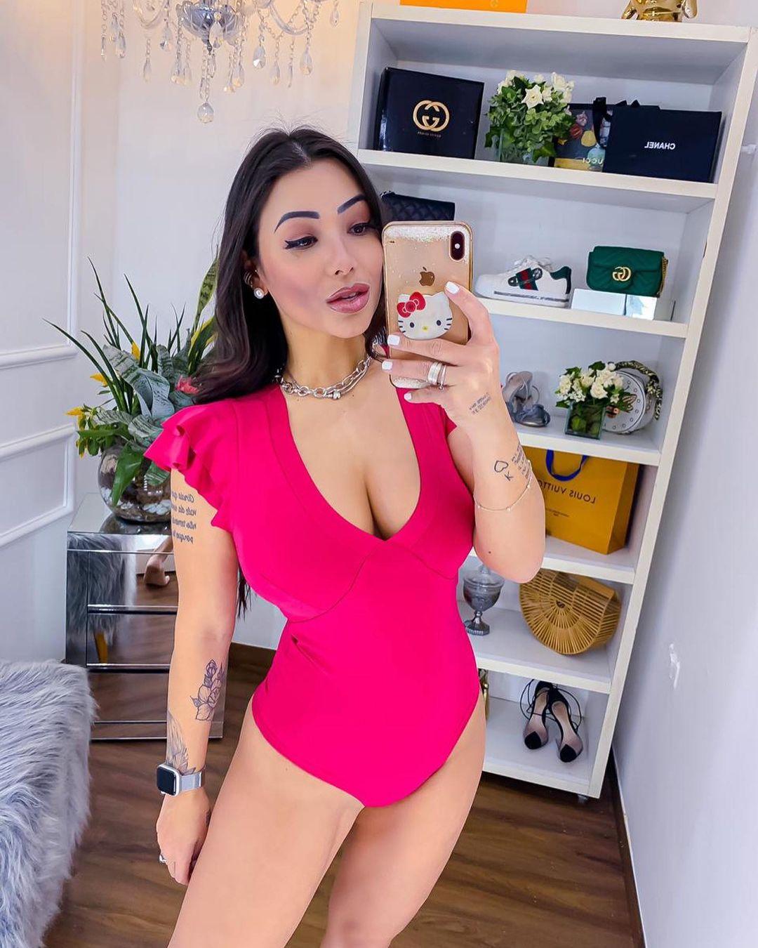 Body Manguinha BWI 72 Pink Neon