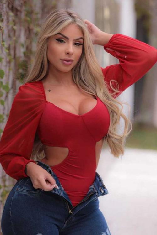 Body Sarah DMY 347 Vermelho