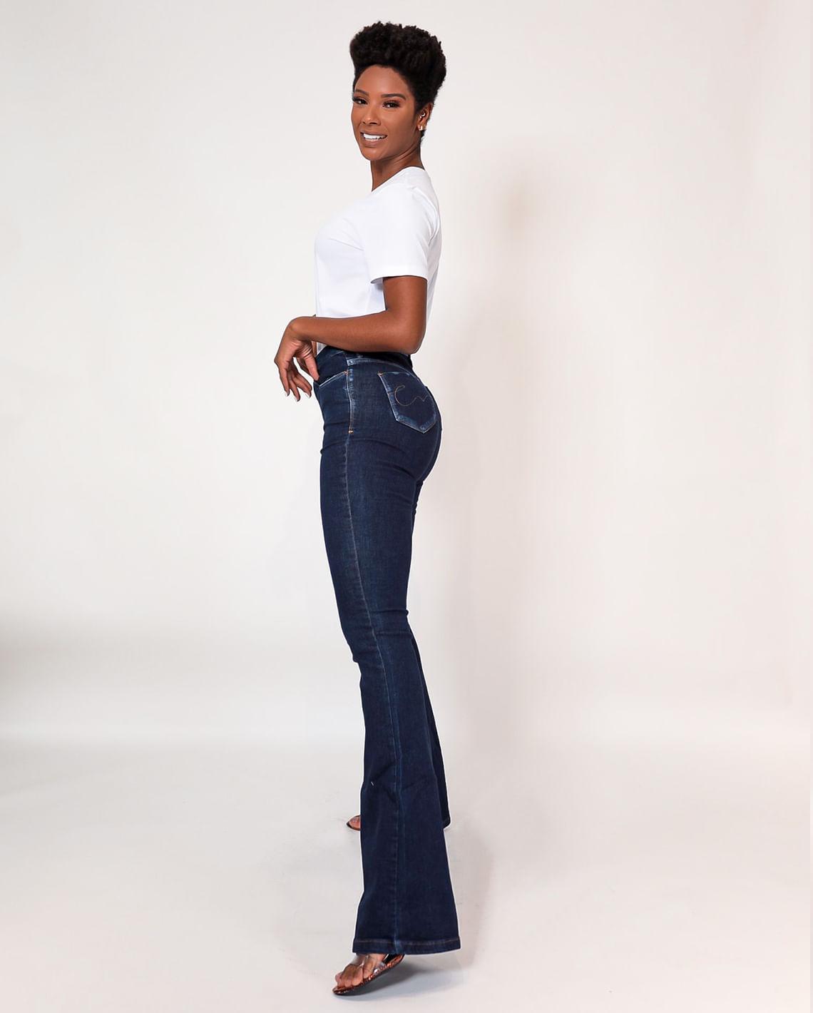 Calça Flare Jeans - Ideal Para Mulheres Altas Cns 20652
