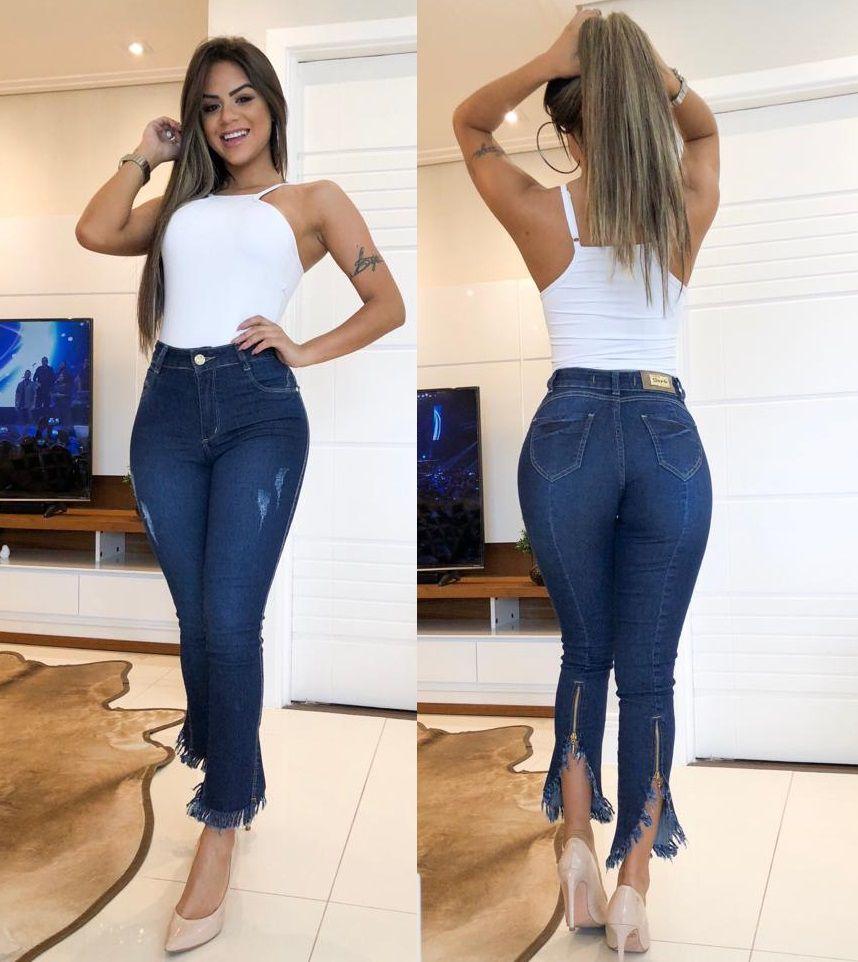 Calça Jeans Barra Desfiada Ziper DPO 44