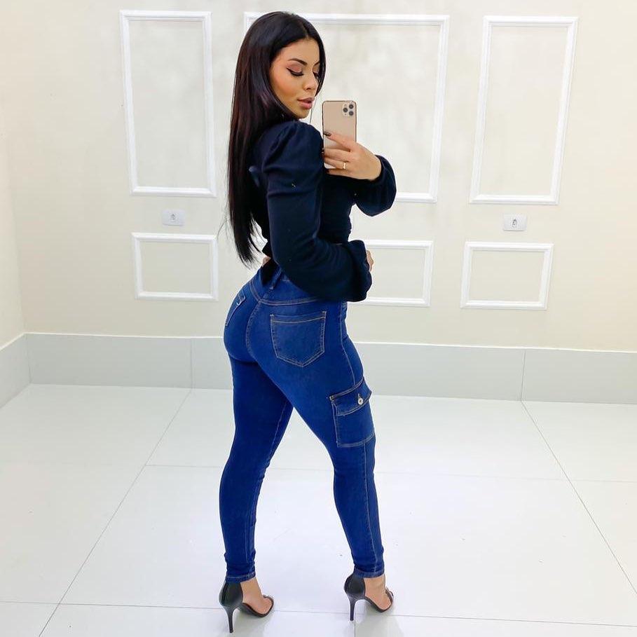 Calça Jeans Bolso Lateral MLD 51841
