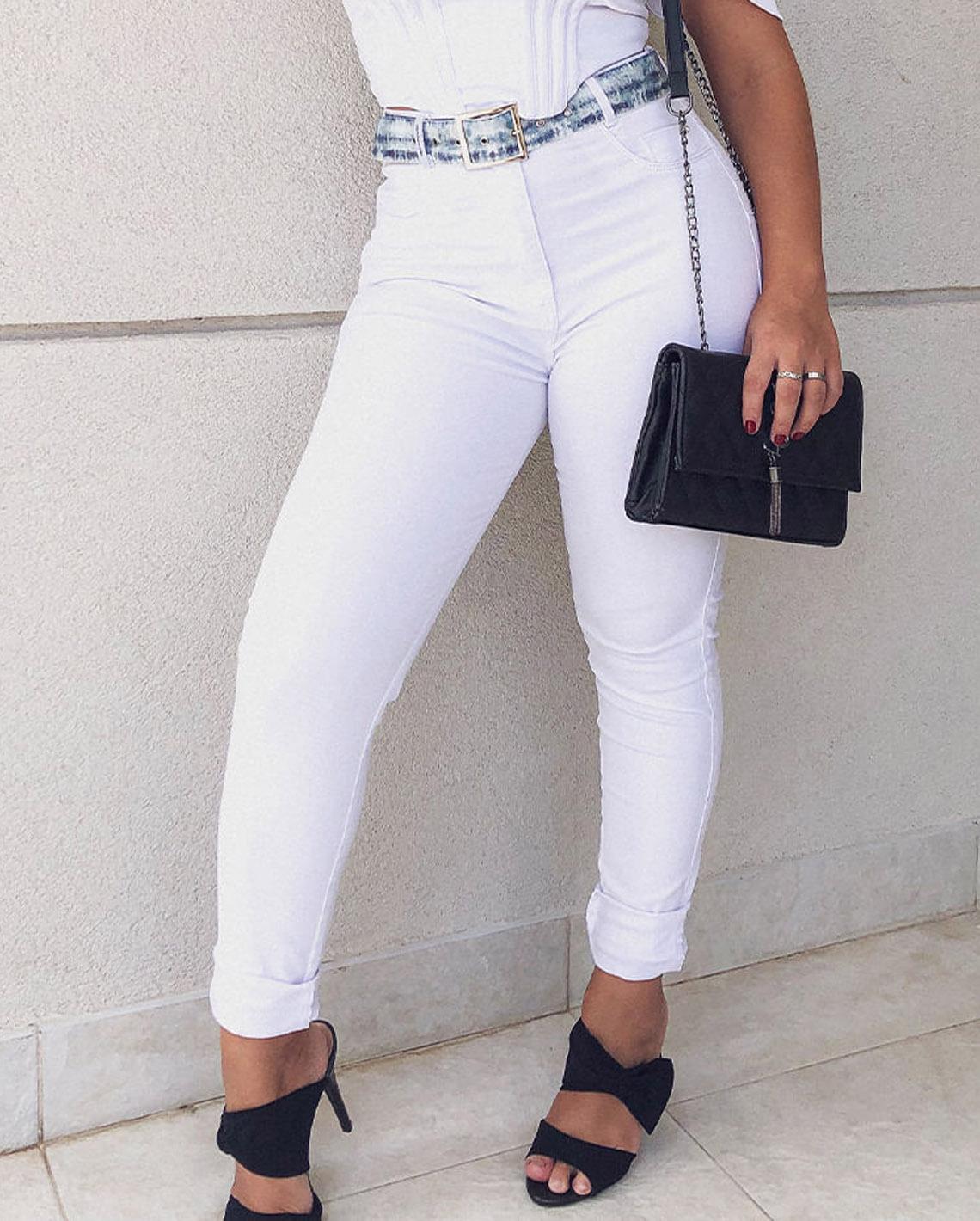 Calça Jeans Hot Fair Branca CNS 20090