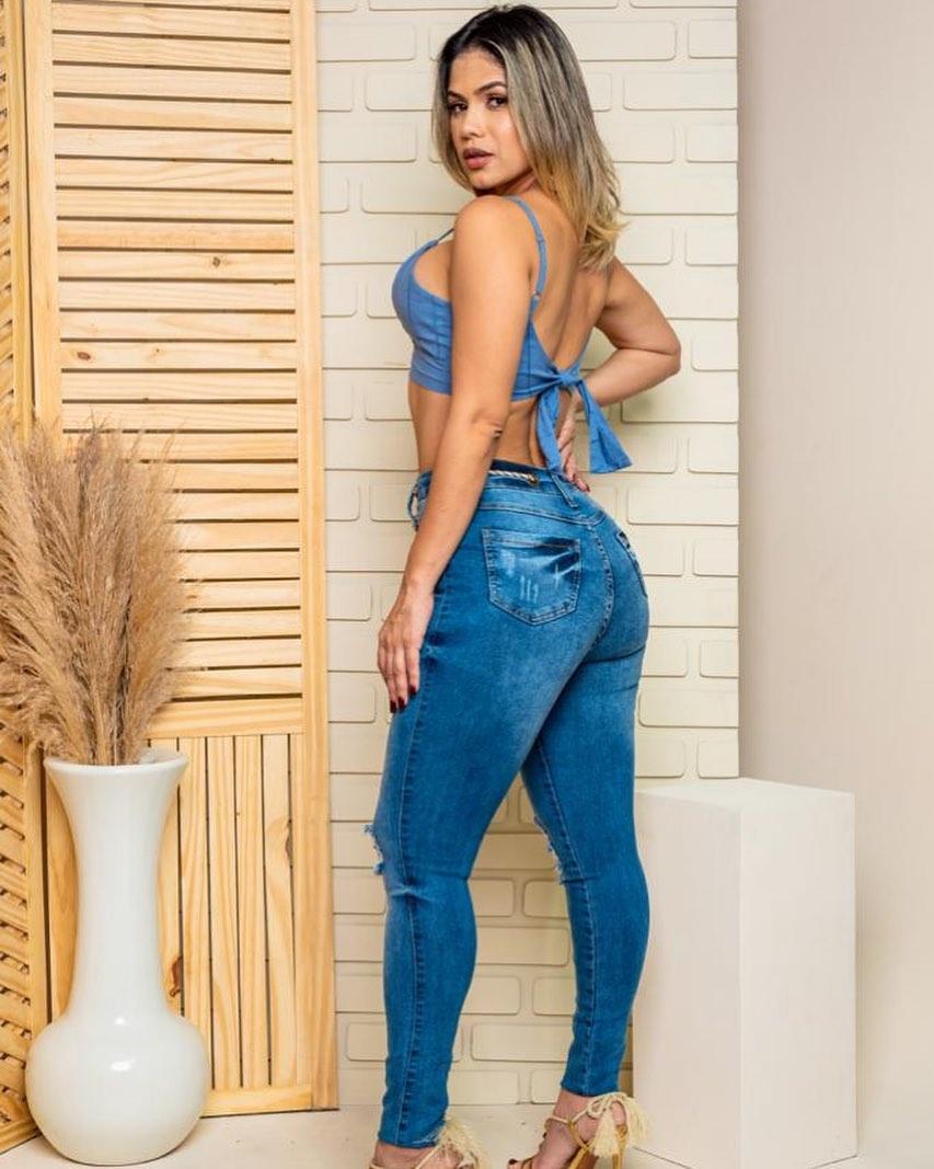 Calça Jeans Ilhós e Amarr. MLD 51898