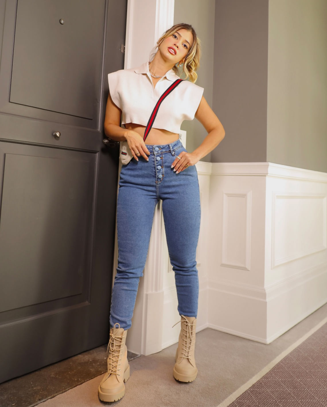Calça Jeans Mom com Elastano CNS 201bm