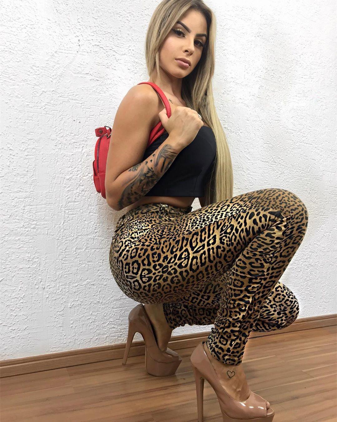 Calça Jeans Sal e Pimenta Animal Print CJ 027