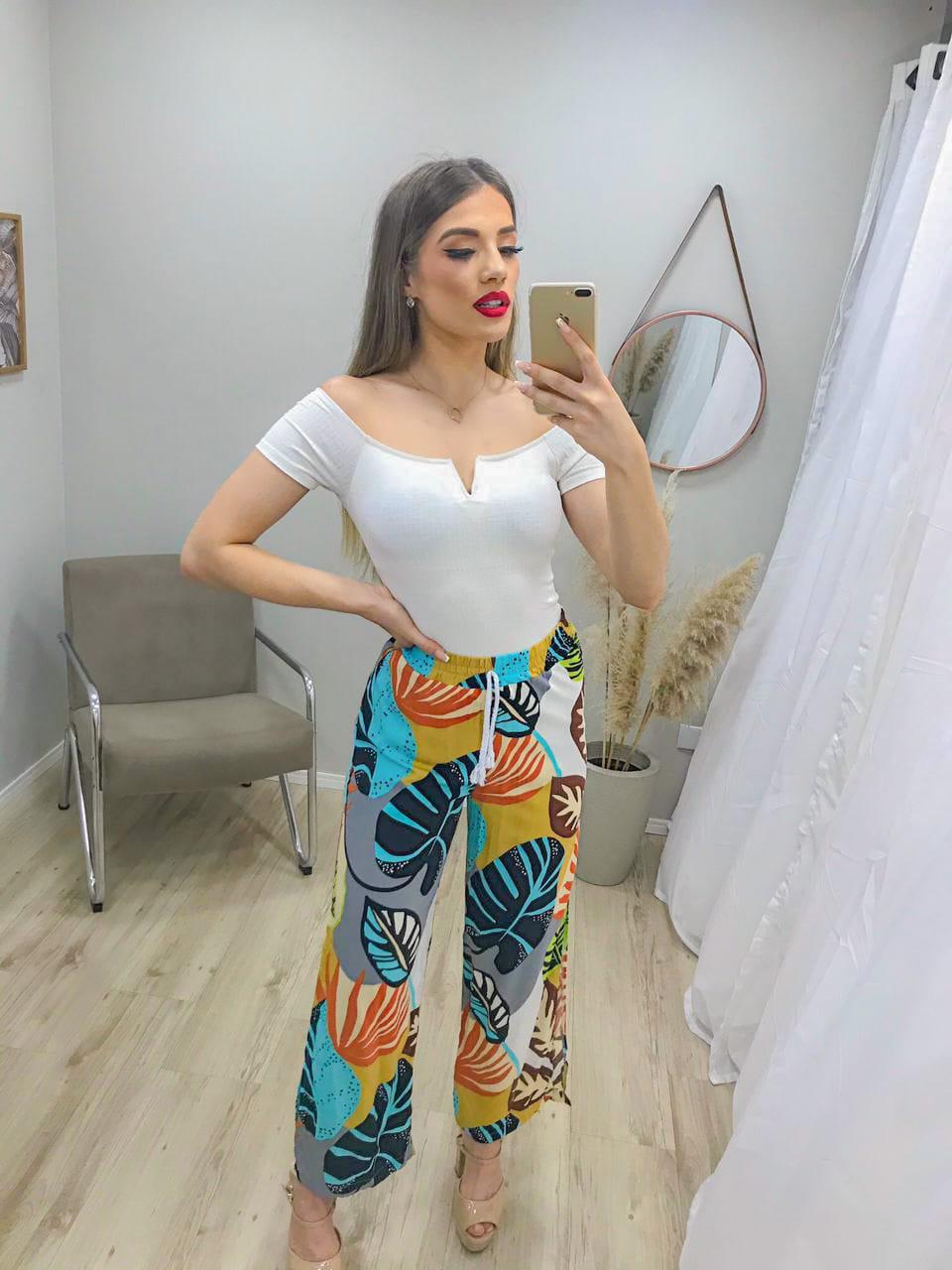 Calça Pantalona Cordão Fendas MIM 14