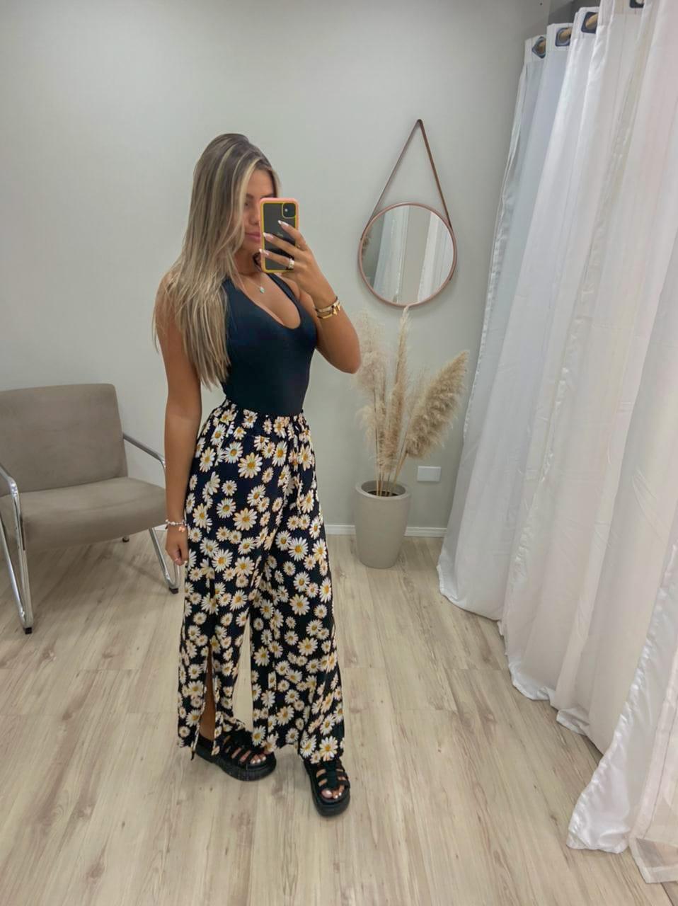 Calça Pantalona Cordão Fendas MIM 15