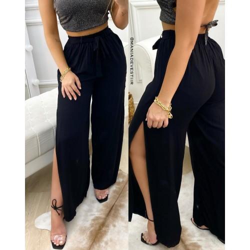 Calça Pantalona Faixa e Fendas NVB 49