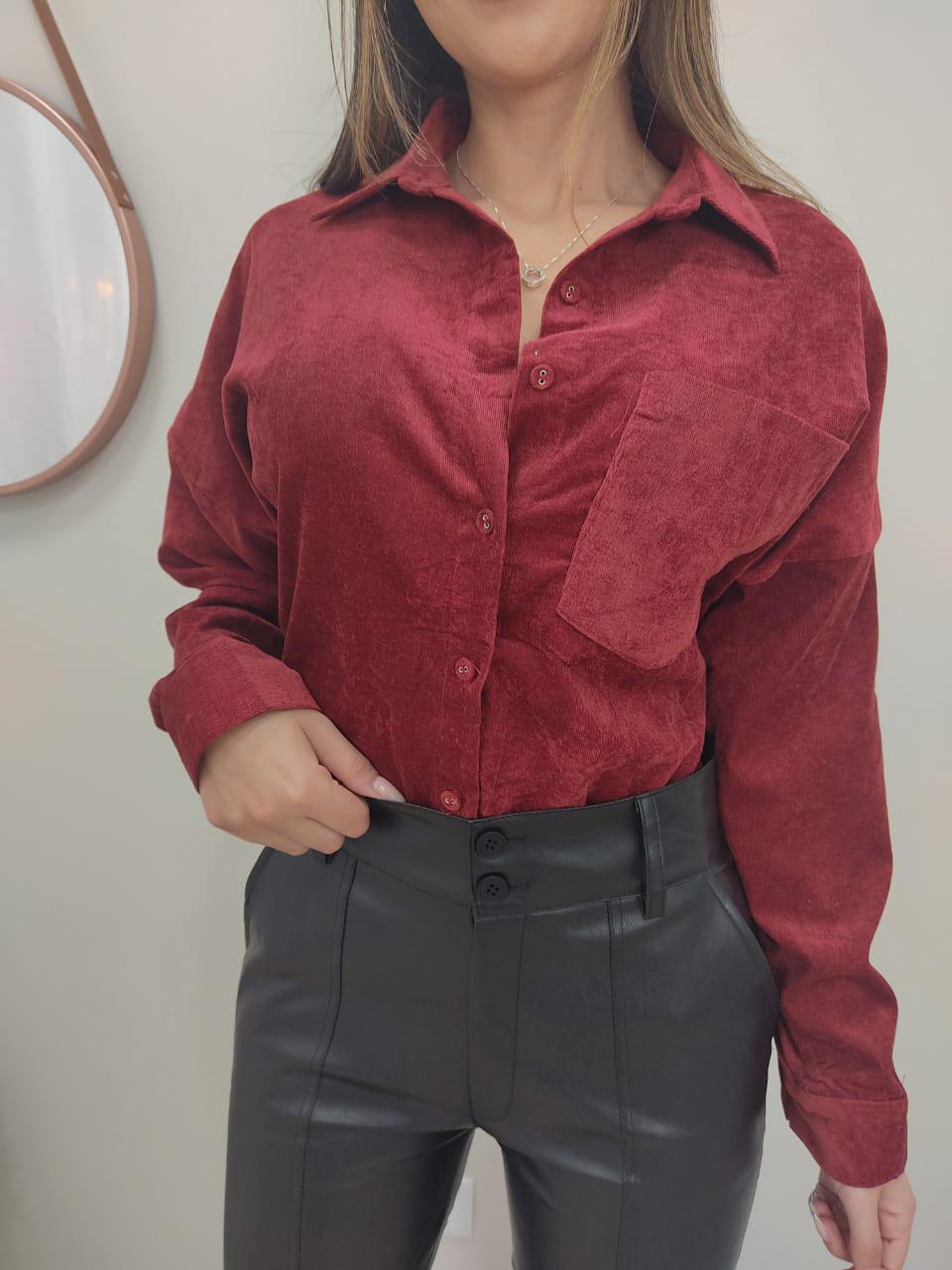 Camisa Aveludada JNY 09 Marsala