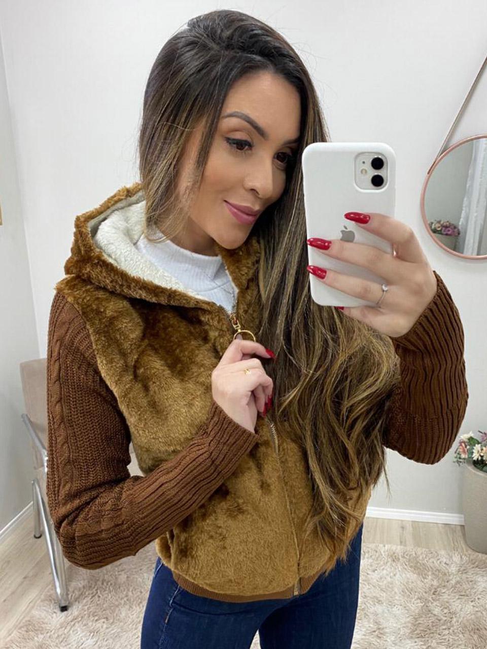 Casaco Jaqueta Pelinhos JNY 01b