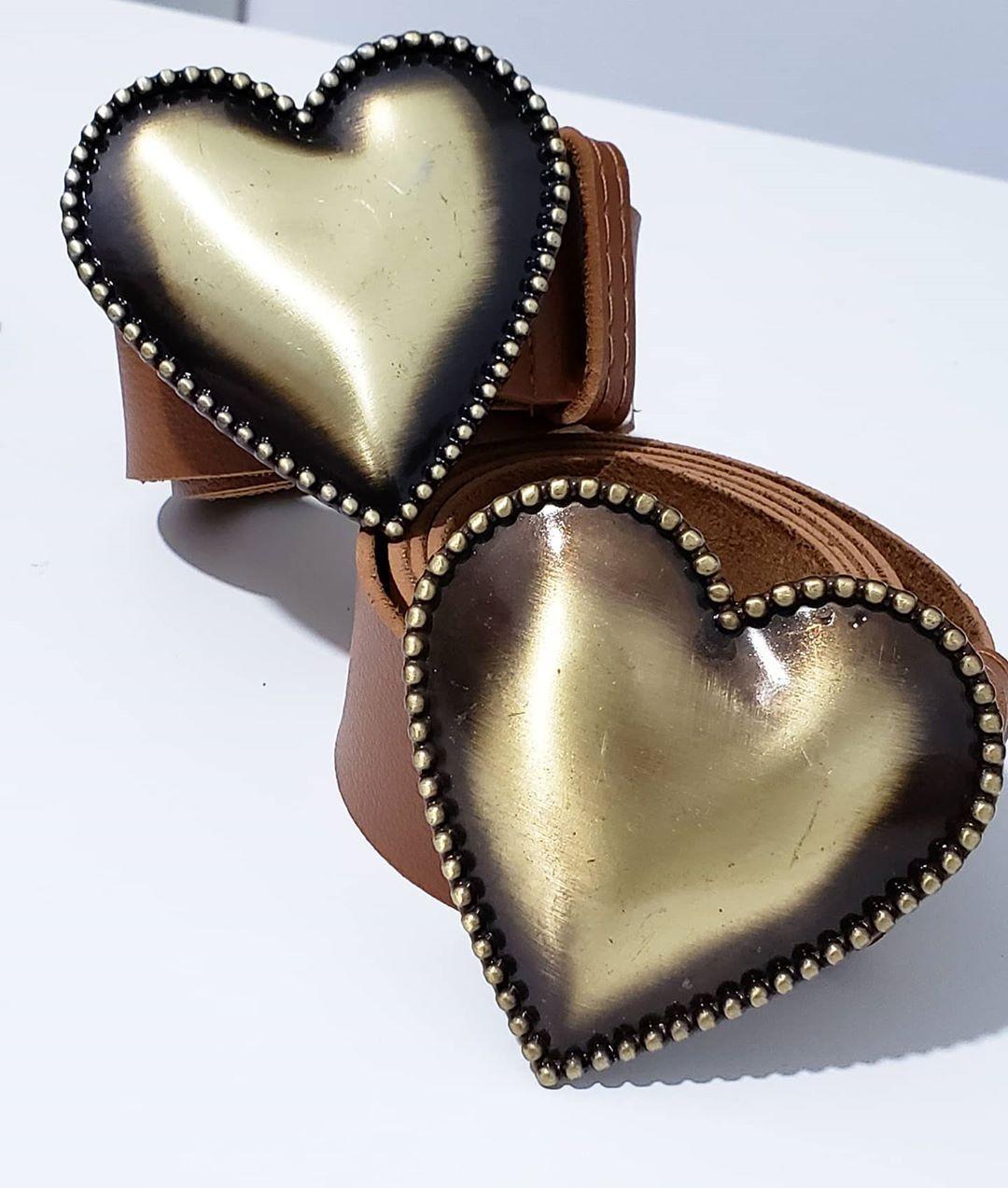 Cinto Coração Caramelo Fiv. Ouro Envelhecido NDD 18