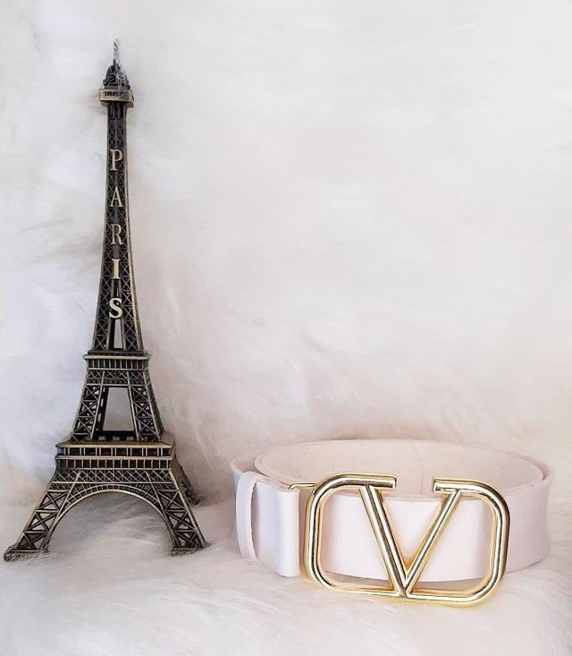 Cinto Inspired Valent Branco Fiv. Dourada NDD 09