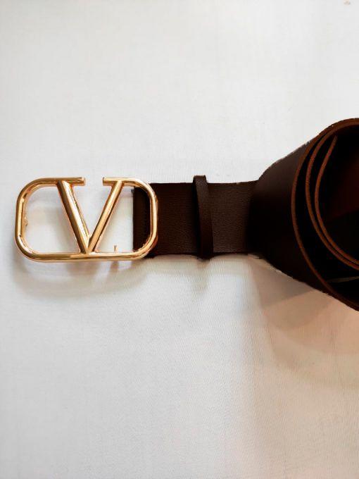 Cinto Inspired Valent Marrom Fiv. Dourada NDD 10