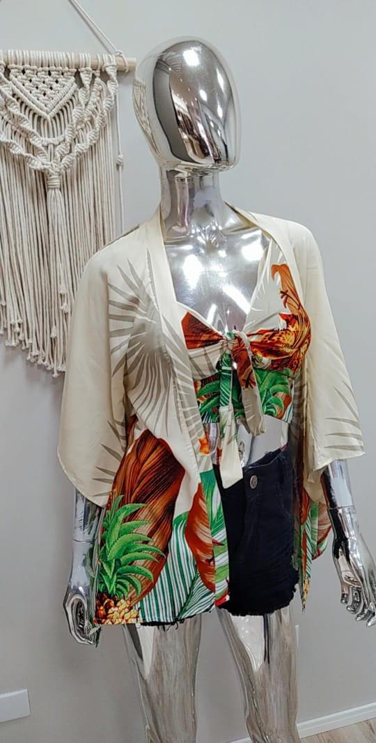 Cjto Cropped e Kimono LUM 07