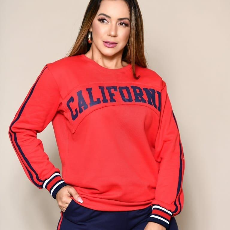 Conjunto Moletom Flanelado California RIB 01