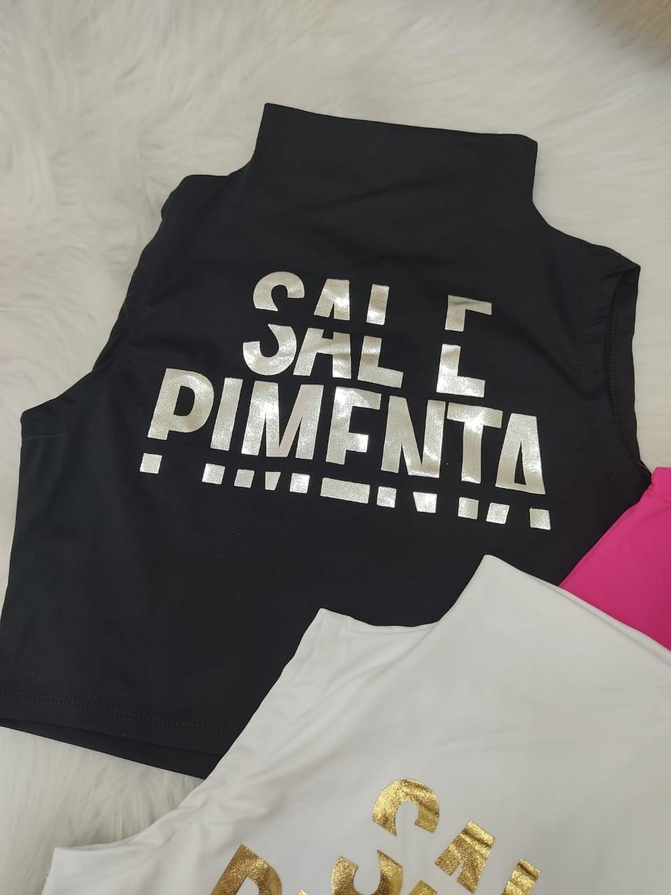 Cropped Foil Sal e Pimenta SAP 106